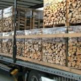 Firewood, Pellets And Residues - Kiln Dried Beech Cleaved Firewood In Boxes And In Net Bags