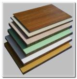 Melamine paper faced particle board with E2 glue