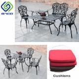 Garden Furniture - Aluminium Garden Chair And Table Set In Black Color