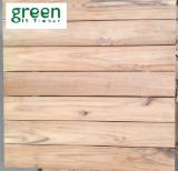 Exterior Wood Decking - Teak Decking Tiles S4S Beveled Edge