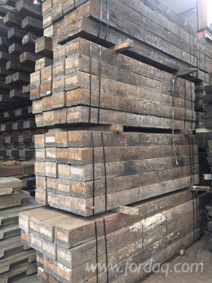Ad Azobe Used Railway Sleepers 220 X 245 X 2600 4500 Mm