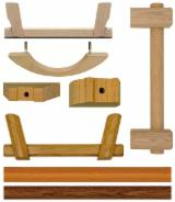 Componente Din Lemn - Elemente Strunjite Fag, Stejar, Plop