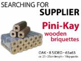 Firewood, Pellets And Residues - Buying PiniKay wooden briquettes - beech / oak - 8-sided - whole truckloads