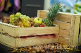 Wood Pallets - Low Spruce Crates, 18 x 30 x 50 cm