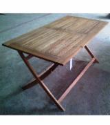 Garden Furniture - Folding Rectangular Acacia Table