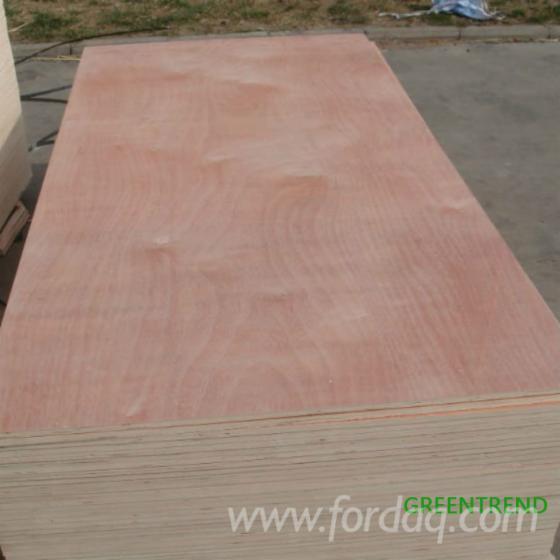 Sapelli Veneer Faced Poplar Core Plywood