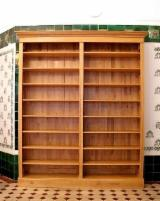 Bookcase Living Room Furniture - Real Antique Beech/ Oak/ Common Black Alder Bookcase