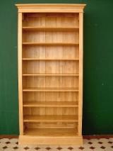 Poland Living Room Furniture - Common Black/ Grey Alder Bookcase