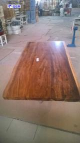 Wood Components - Wenge/Raintree/Balck Walnut/Acacia Wood Solid/FJ/Live-edge Table Top