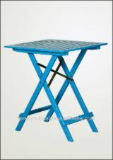 Art & Crafts/Mission Garden Furniture - Acacia Folding Table FWT034