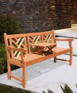 Garden Furniture For Sale - Acacia Bench with Pop Up Table