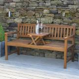 Garden Furniture - Acacia Garden Wooden Bench With Pop Up Table