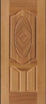 木质组件、木框、门窗及房屋 亚洲 - 高密度纤维板(HDF), 柚木, 门皮面板