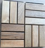 Flooring And Exterior Decking - Burma Teak Decking Tiles, 19 x 300 x 300 mm