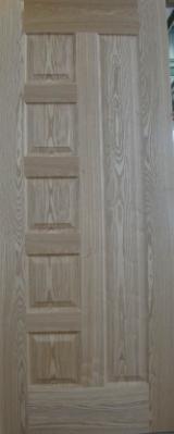 Groothandel Houten Bekleding - Dakafdeklijsten, Houten Muren Panelen - Massief Hout, Essen Wit, Externe Panelen Voor Deuren