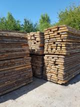 Softwood  Unedged Timber - Flitches - Boules For Sale - Fresh Sawn Spruce Boules, 22+ mm thick