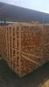 Firewood, Pellets and Residues - Oak Cleaved Firewood/Woodlogs, 33 cm Length