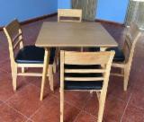 Négoce International De Meubles De Salle À Manger - Fordaq - Vend Ensemble Table Et Chaises Pour Salle À Manger Antiquité Feuillus Européens Acacia
