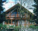 Wood Houses - Precut Timber Framing - Siberian Larch Half-Timbered House (Fachwerkhaus)