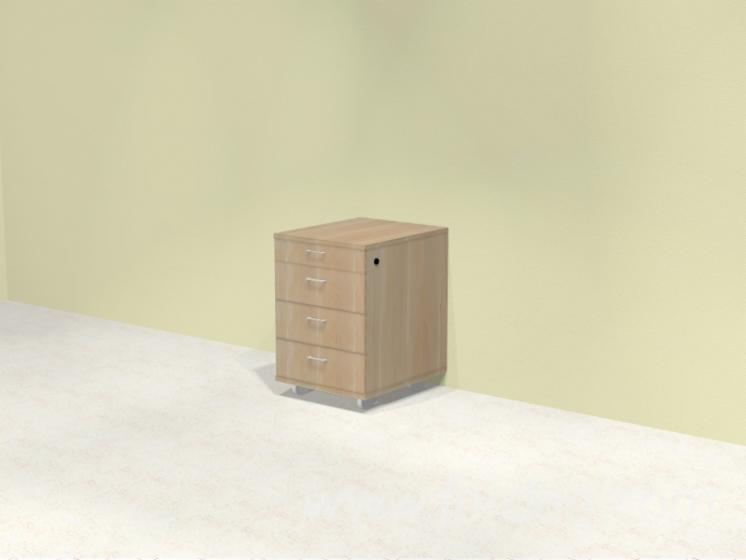 Composed - Movable Drawer With Central Lock
