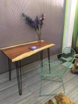 Office Furniture - Saman Table Tops With Iron Frame