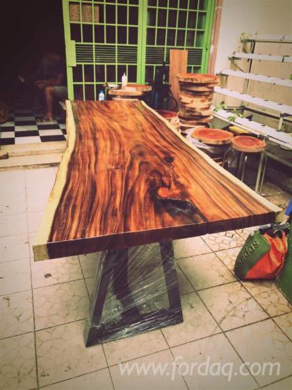 Saman Table Tops with Iron Frame