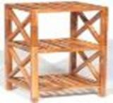 Buy Or Sell Wood Flower Pot - Planter - Acaccia 3 Tier Shelf Flower Pot