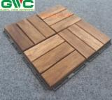 Anti-Slip Decking  Exterior Decking - Acacia Anti-slip Interlocking Deck Tiles