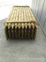 Pine  - Redwood Softwood Logs - Pine Stakes FSC