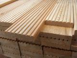 Anti-Slip Decking  Exterior Decking - Siberian Larch / Larch Terrace Decking 27-32 mm