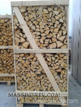 劈好的薪柴-未劈的薪柴 薪碳材/开裂原木 桦木, 橡木, 常见的黑桤
