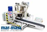 Band conveyor LIGNUMA MG-4000, band saw for cutting prisms, tape, 2 cutting systems