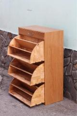 Contemporary Hall - Rubberwood Shoe Storage