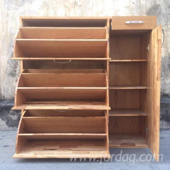 Rubberwood Shoe Storage