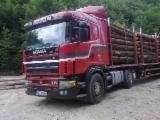 Oprema Za Šumu I Žetvu Kamion Za Prevoz Dužih Stabala - Kamion Za Prevoz Dužih Stabala Scania Polovna 2003 Rumunija
