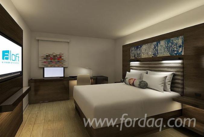 Modern Luxury Resort Composite Wood Bedroom Sets
