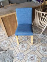 Living Room Furniture For Sale - Rubberwood Chair with Linen Cover
