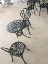 Wholesale Garden Furniture - Buy And Sell On Fordaq - Aluminum Garden Bistro Set with Umbrella Hole