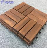Anti-Slip Decking  Exterior Decking - Acacia Decking Tiles 15/19/24 mm