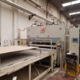 Automatically Fed Press For Veneering Flat Surfaces - TALLERES MARCH COMPLETE AUTOMATIC VENEER FACED BOARD PRODUCTION LINE 2,000x8,000mm, year 2006