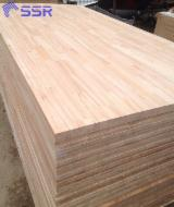 采购及销售端接板 - 免费注册Fordaq - 1 层实木面板, 筒状非洲楝木