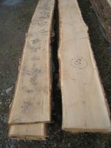 Hardwood  Unedged Timber - Flitches - Boules - KD Oak Loose Lumber 26, 32, 40, 50 mm