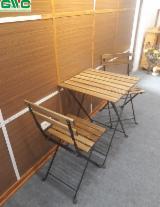 Garden Furniture For Sale - Acacia / Metal Frame Garden Set