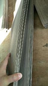 批发木皮 - 采购或销售木皮复合板 - 天然木皮单板, 黑胡桃, 平切,平坦