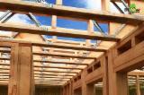 Дерев'яні Будинки - Каркасні Будинки Для Продажу - Попередньо Відрізні Балки, Ялиця, Модрина , Ялина  - Біла