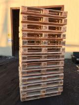 Recycled - Used In Good State  Pallets And Packaging - Recycled Fir/Pine/Spruce EPAL Euro Pallets, 144 x 800 x 1200 mm