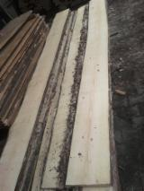 Softwood  Unedged Timber - Flitches - Boules Poland - Pine Unedged Lumber with One Side Clear, KD, 50 mm thick