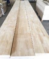 采购及销售端接板 - 免费注册Fordaq - 1 层实木面板, 橡胶木