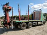 Short Log Truck - Timber carrier truck with Palfinger Epsilon 120Z log crane