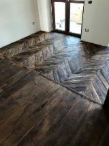 Massivholzböden Italien - Kastanie, Eiche, Walnuß, Altholz, Massivholzböden 4-seitig Gehobelte Lamellen